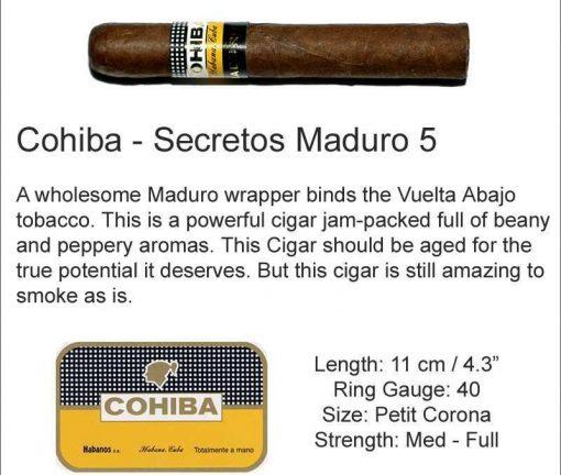 Cohiba Maduro 5 Secretos