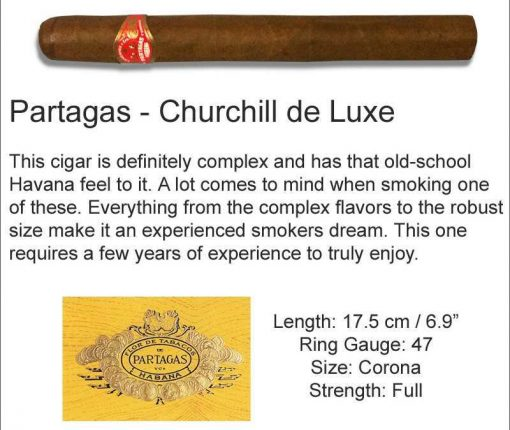 Partagas Churchill De Luxe
